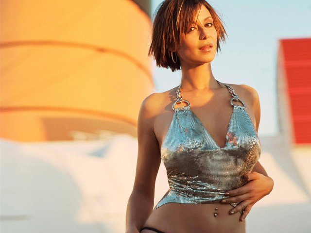 Catherine Bell Sexy Dress