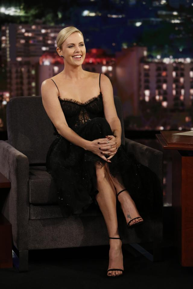 Charlize Theron hot toe nails