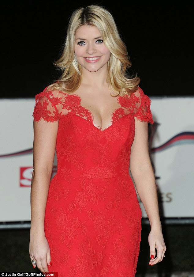 Holly Willoughby Hot in Red