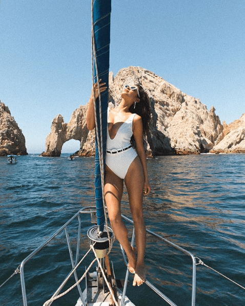 Shay Mitchell on Boat