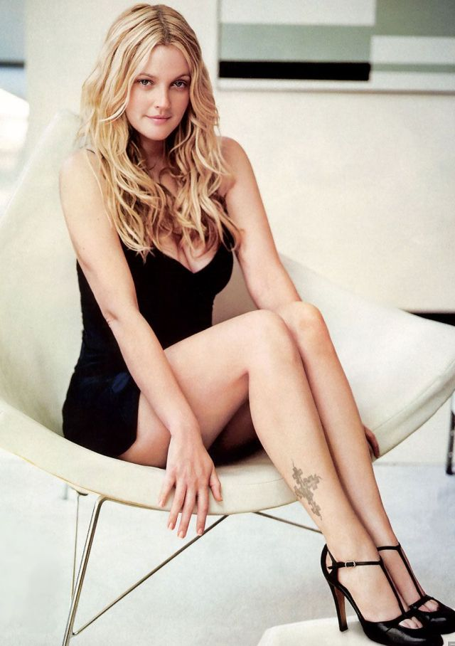 drew barrymore legs hot