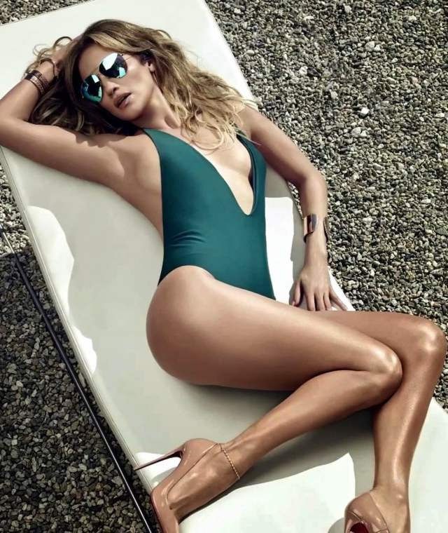 jennifer lopez swimsuit green