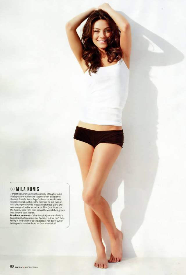 mila kunis hot bare feet pictures