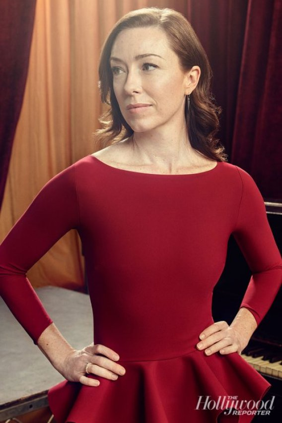 molly parker red dress