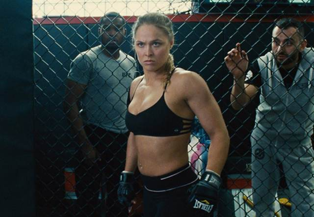 ronda rousey looking angry