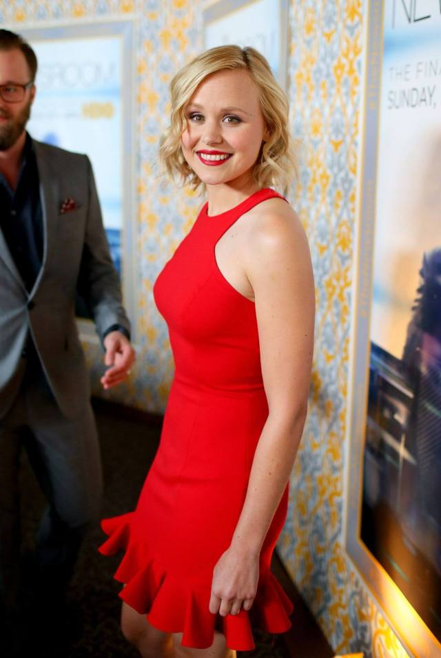 Alison Pill sexy red