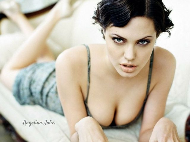 Angelina Jolie hot cleavages