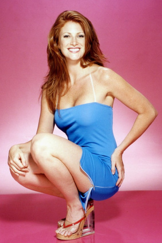 Angie Everhart hot in blue
