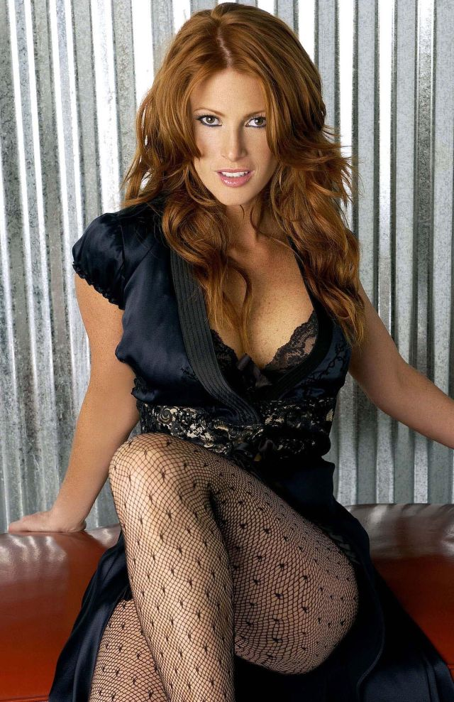 Angie Everhart sexy dress