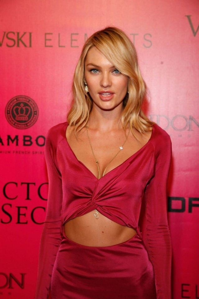Candice Swanepoel hot red dress