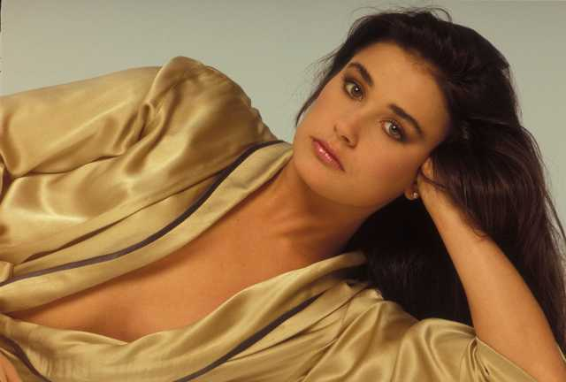 Demi Moore cleavages