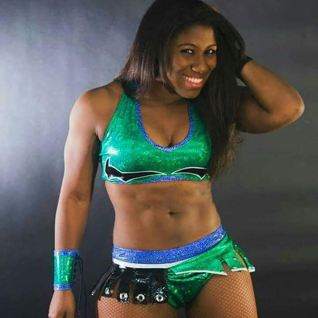 Ember Moon hot green dress