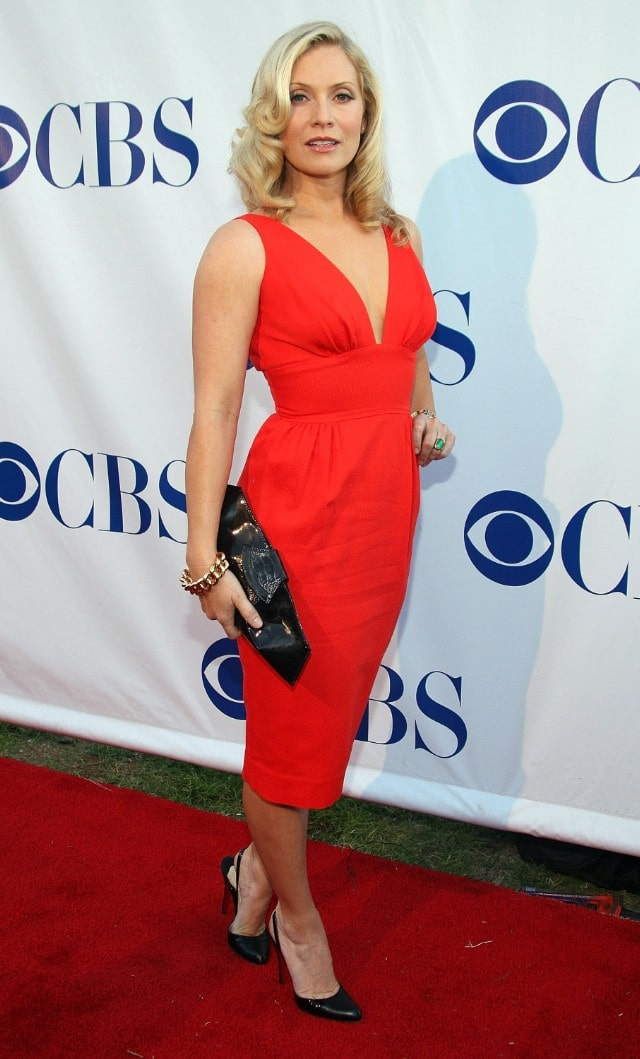Emily Procter sexy red dress