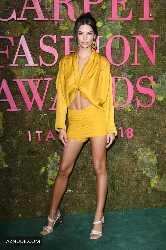 Emily Ratajkowski sexy in yellow