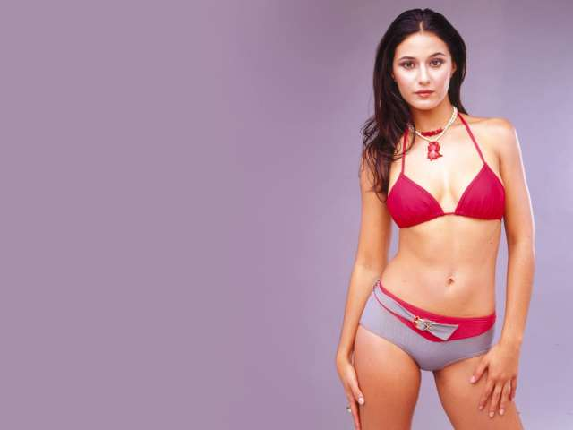 Emmanuelle Chriqui red bikini