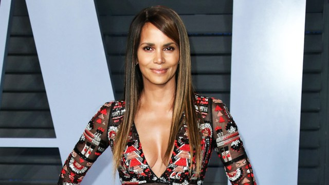Halle Berry on Straight Hair