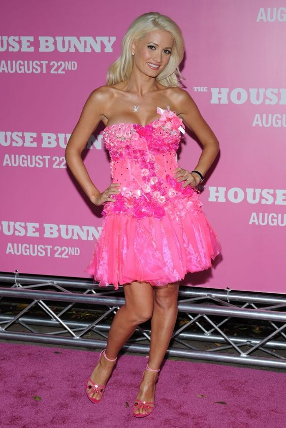 Holly Madison hot in pink
