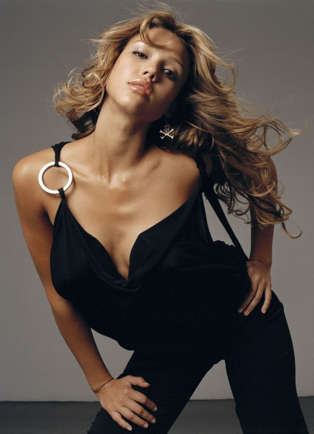 Jessica Alba Hot in Black