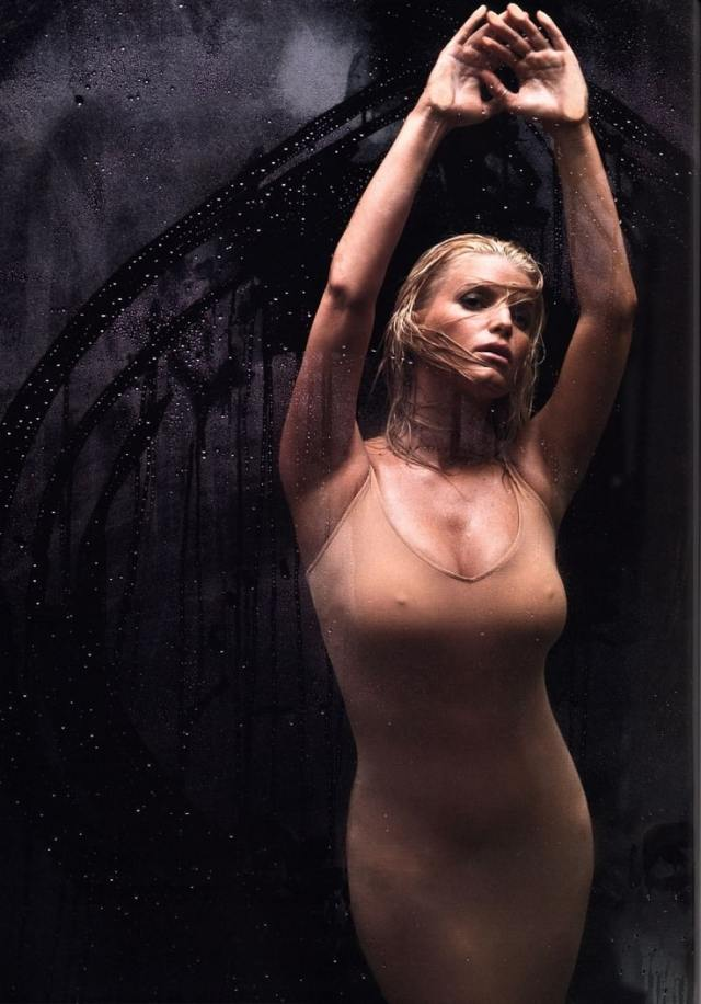 Jessica Simpson Bathing