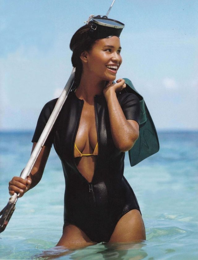 Joy Bryant on Beach