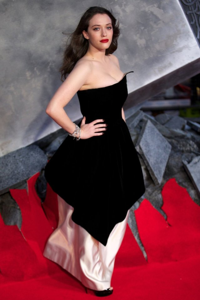 Kat Dennings sexy in red carpet