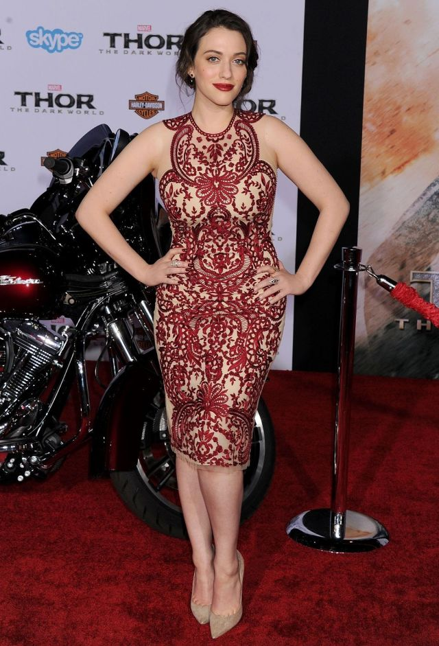 Kat Dennings sexy red carpet