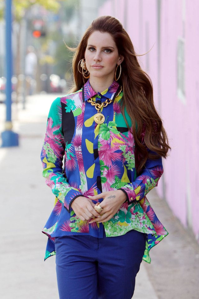 Lana Del Rey at the Photoshoo for Versace
