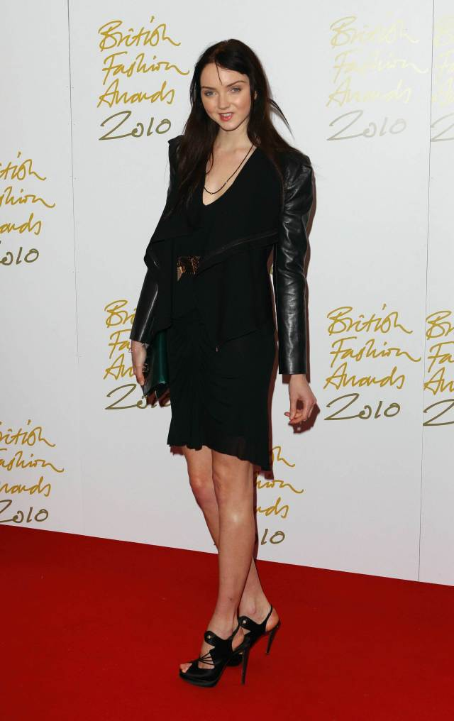 Lily Cole hot black look