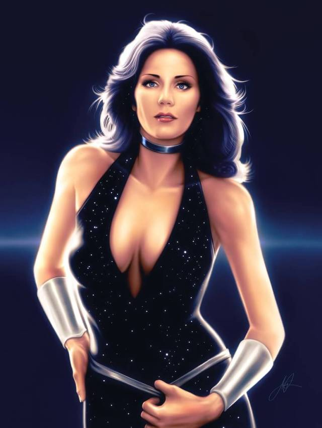 Lynda Carter sexy busty photo