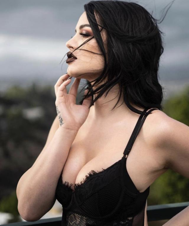 Paige sexy cleavage pic