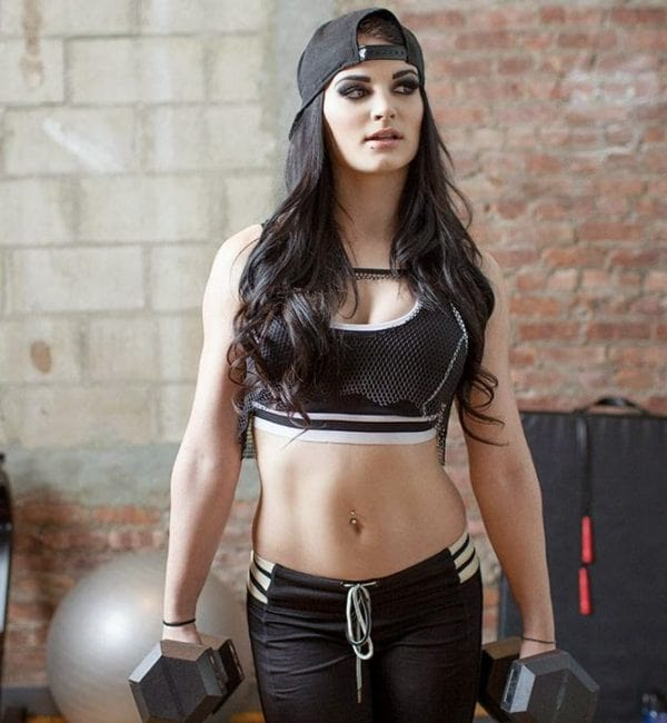 Paige sexy gym work pic