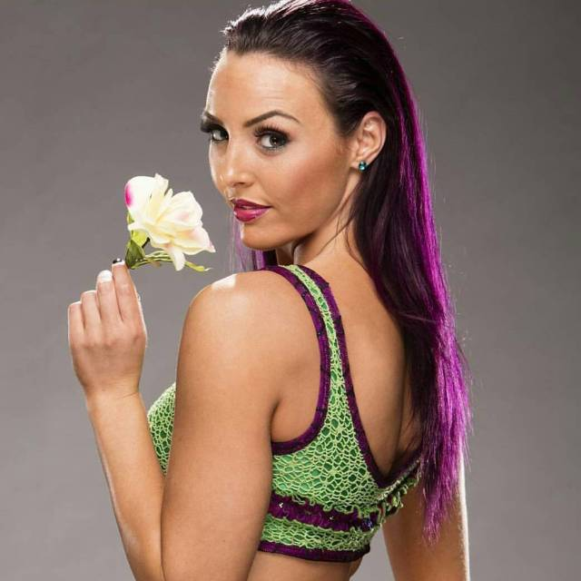 Peyton Royce with Beautifull Flower