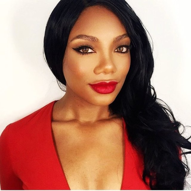 Tiffany Hines Hot in red Dress