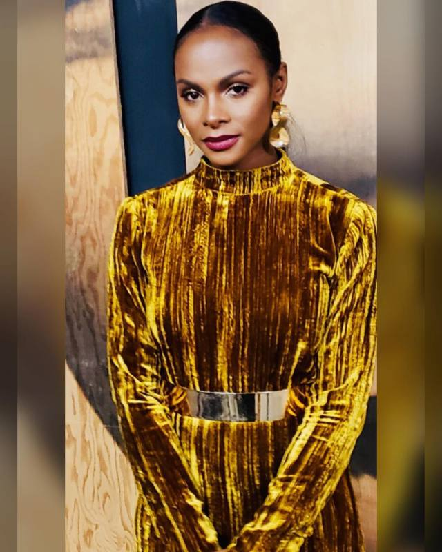 Tika Sumpter on Golden Dress