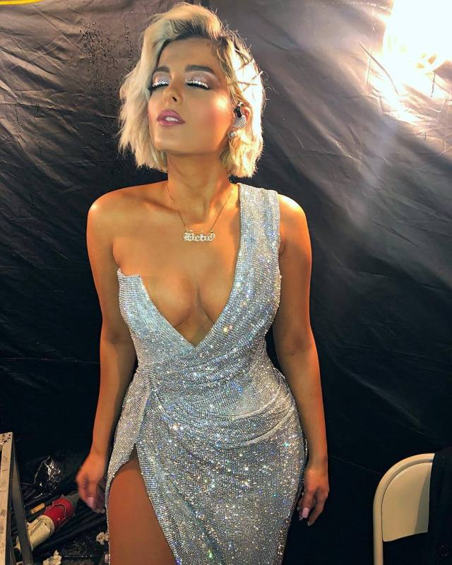 Bebe Rexha cleavage picture
