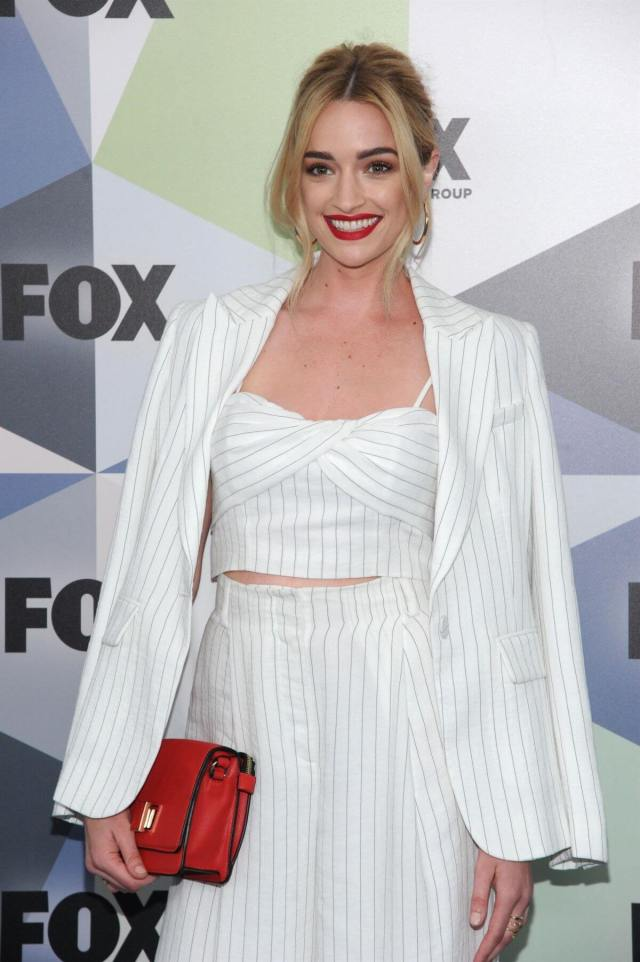 Brianne Howey white awesome dress