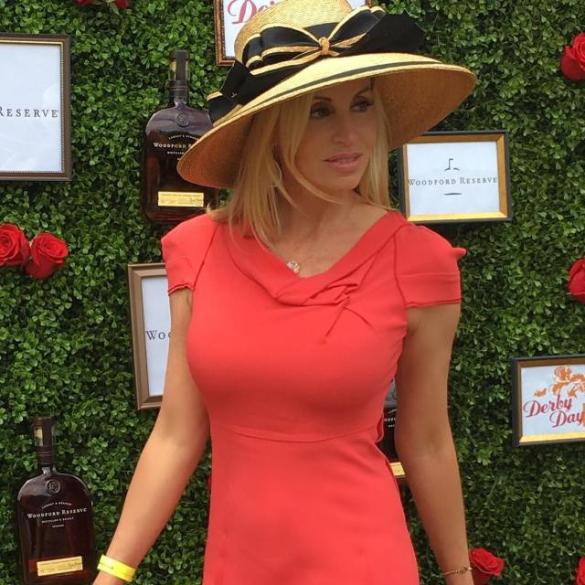 Camille Grammer Hot in Red Dress