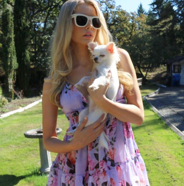 Emily Maddison with Small Puppy