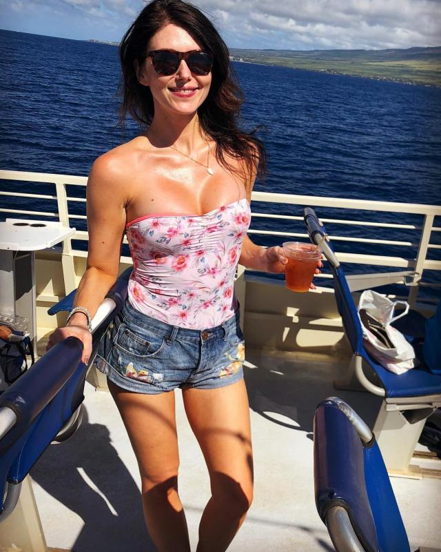 Jewel Staite on Boat