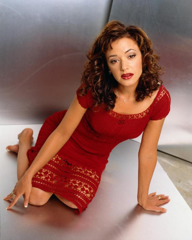 Leah Remini red sexy dress
