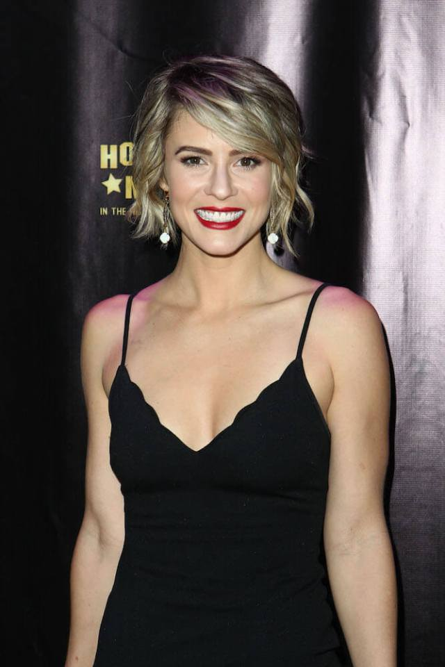 Linsey Godfrey sexy cleavage