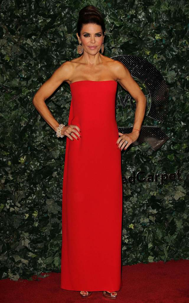 Lisa Rinna awesome red dress