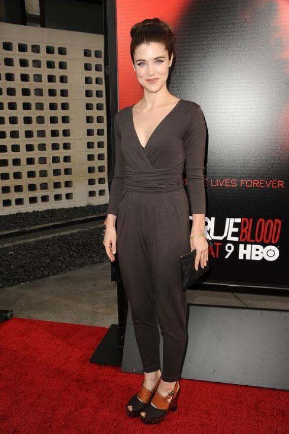 Lucy Griffiths long black dress pic
