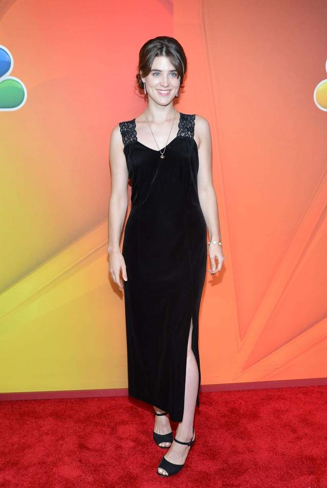 Lucy Griffiths long black dress