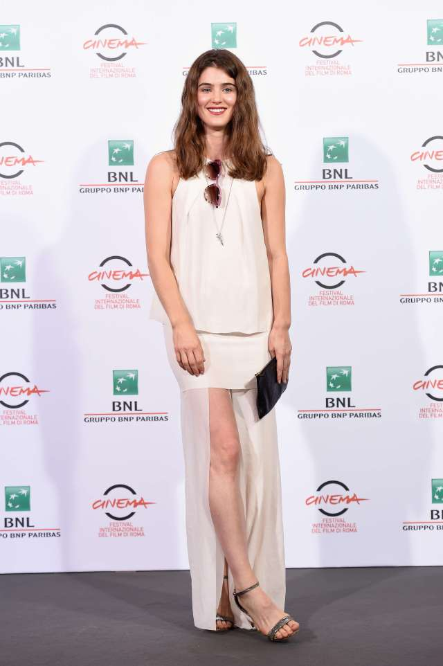 Lucy Griffiths long white dress