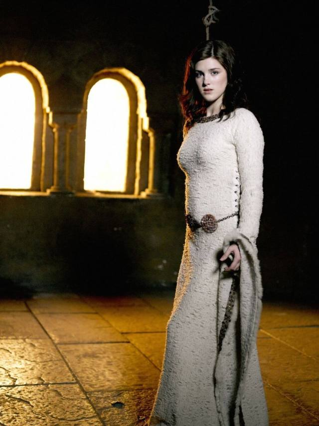 Lucy Griffiths sexy long dress