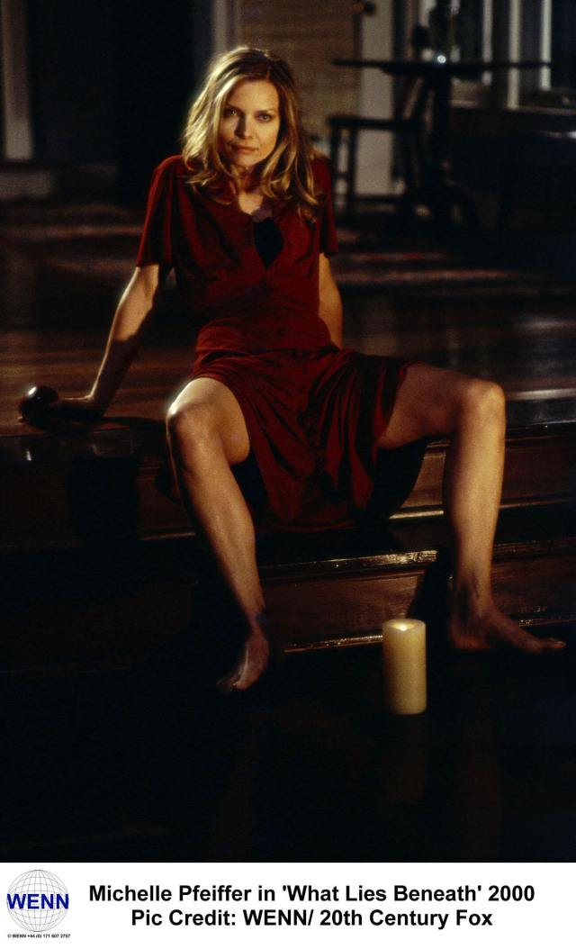 Michelle Pfeiffer red awesome dress
