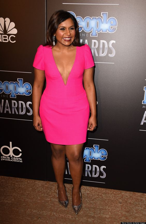 Mindy KalingHot in Pink Dress