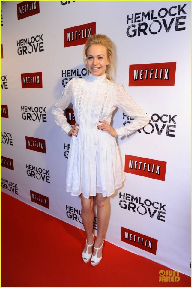 Penelope Mitchell sexy white dress