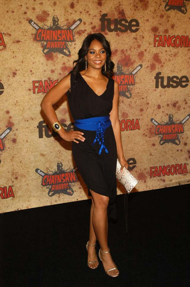 Regina Hall black dress
